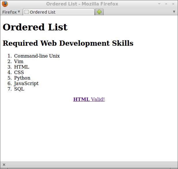html ol type